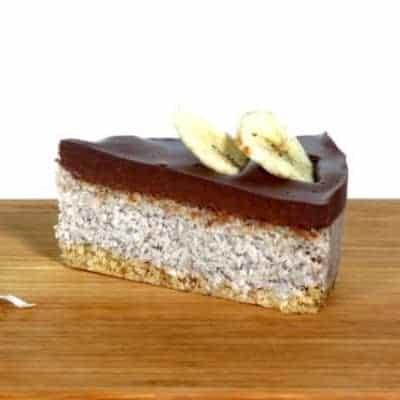 fitlife cukormentes vegán banán-kókusz torta