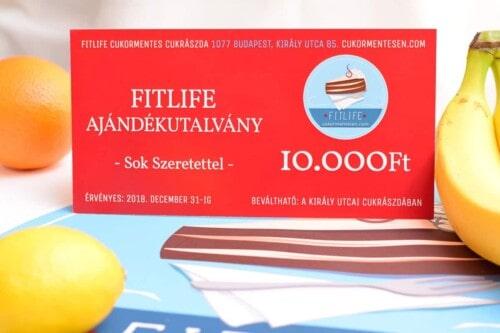 fitlife ajándékutalvány 10.000 Ft