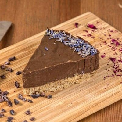 fitlife cukormentes vegán karobos levendula torta