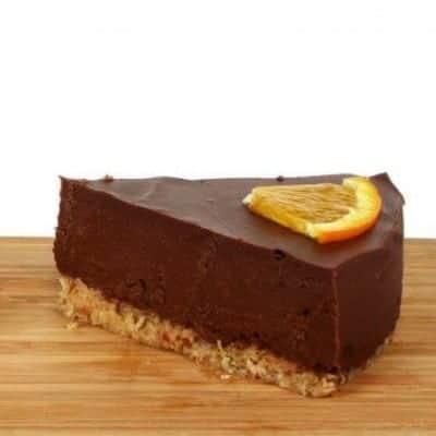 fitlife cukormentes vegán narancsos brownie torta